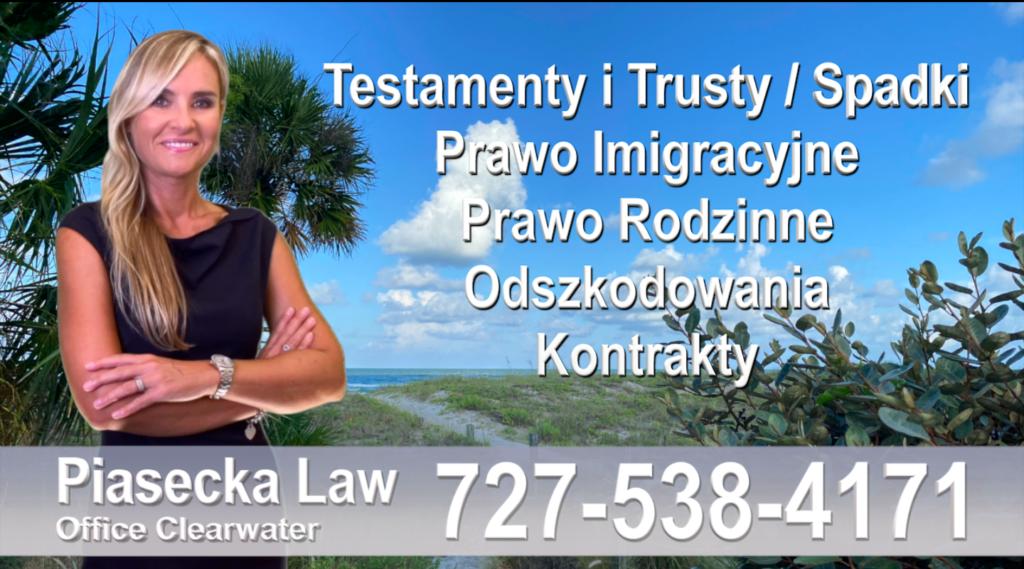 Polski adwokat prawnik Floryda Testamenty Trusty Spadki Prawo Imigracyjne Rodzinne Odszkodowania Kontrakty Wypadki Polscy Adwokaci